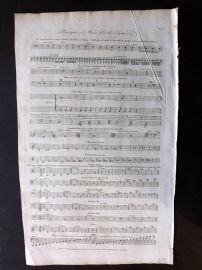 Hall 1791 Antique Print. Principles of Music
